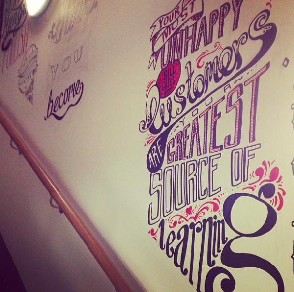 graphic design mural