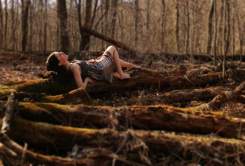 girl in woods 2