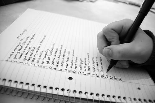listing goals