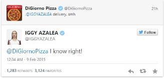 iggy azalea digiorno tweet