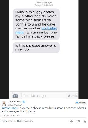 iggy azalea text message