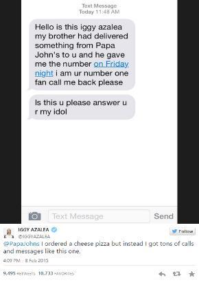 iggy azalea text message