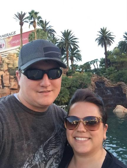 Jamie and her husband Ross on a trip to Las Vegas.
